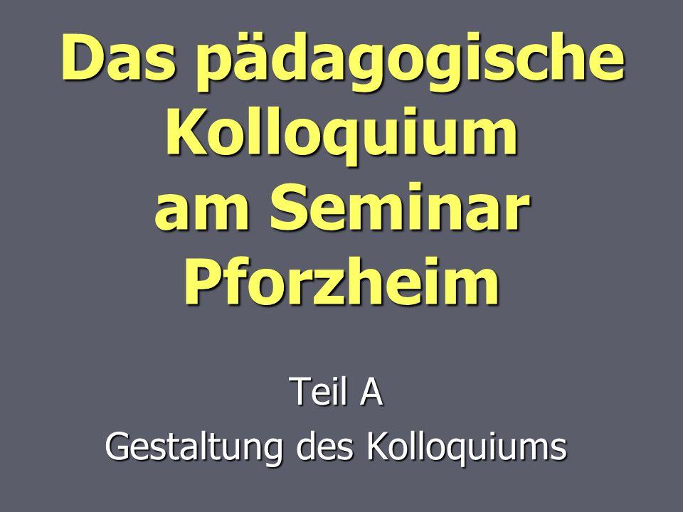 Das pädagogische Kolloquium am Seminar Pforzheim
