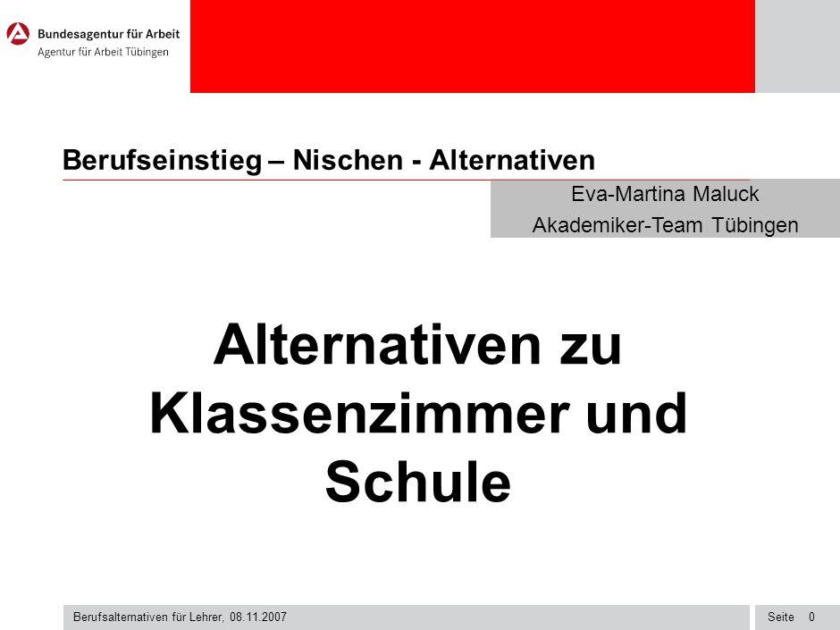 Berufseinstieg – Nischen - Alternativen