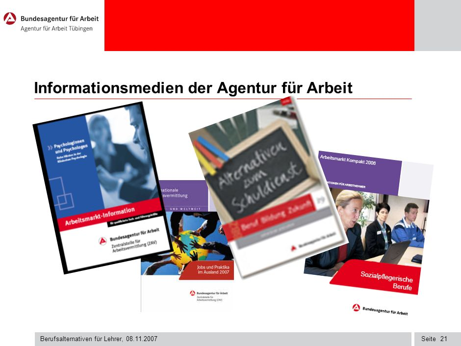 Informationsmedien der Agentur für Arbeit