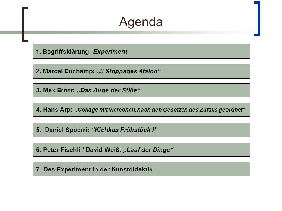 Agenda 1. Begriffsklärung: Experiment