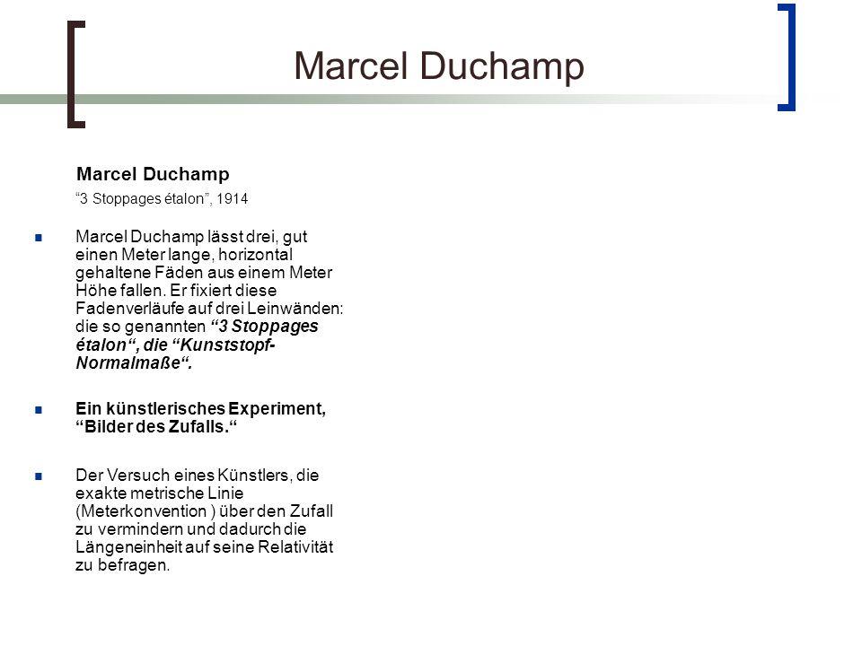Marcel Duchamp Marcel Duchamp 3 Stoppages étalon , 1914