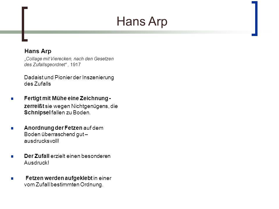 Hans Arp Hans Arp Fertigt mit Mühe eine Zeichnung -
