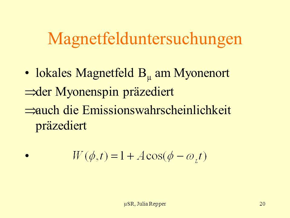 Magnetfelduntersuchungen