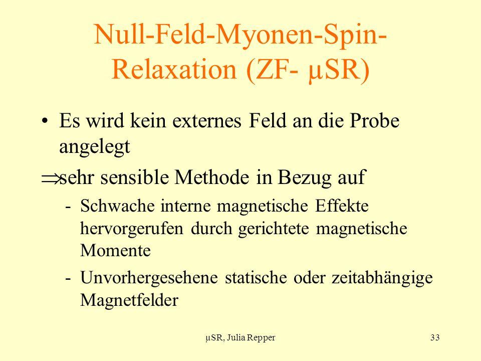 Null-Feld-Myonen-Spin-Relaxation (ZF- µSR)