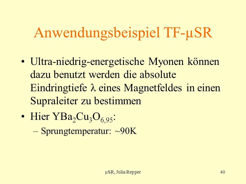 Anwendungsbeispiel TF-µSR