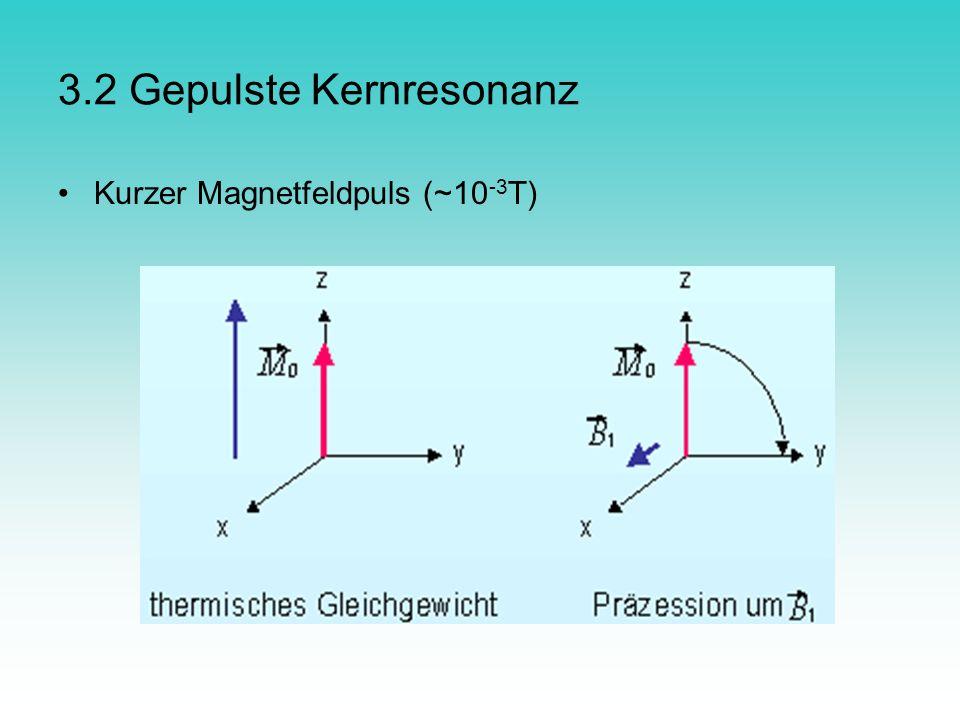 3.2 Gepulste Kernresonanz