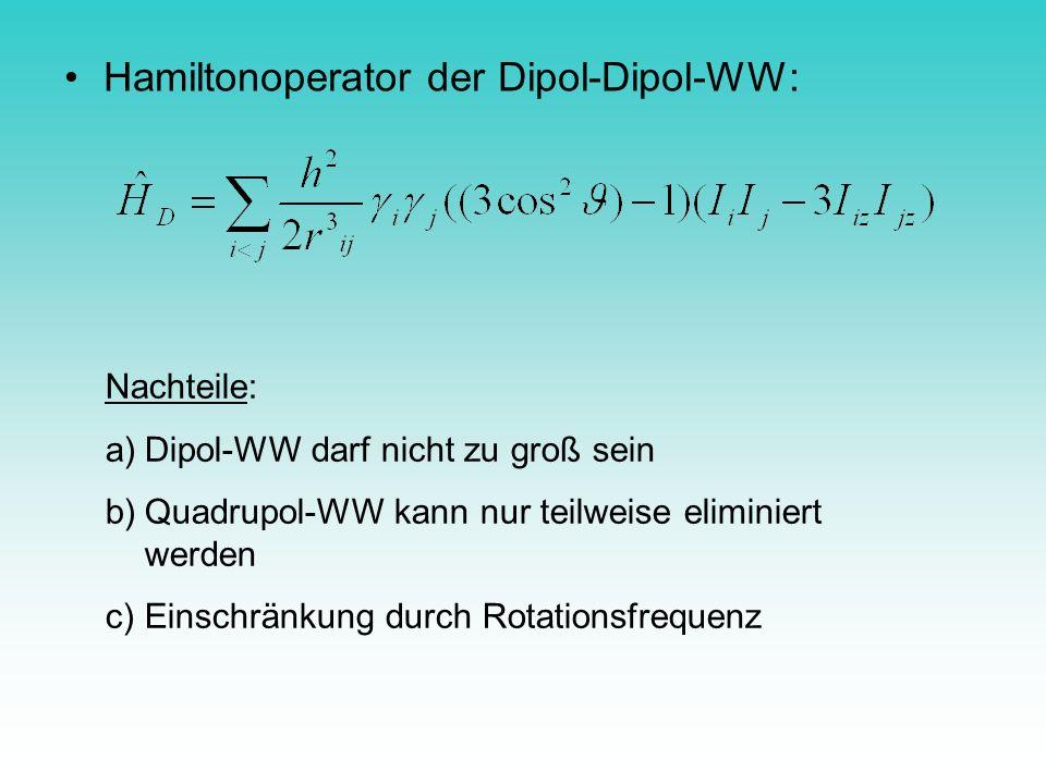 Hamiltonoperator der Dipol-Dipol-WW: