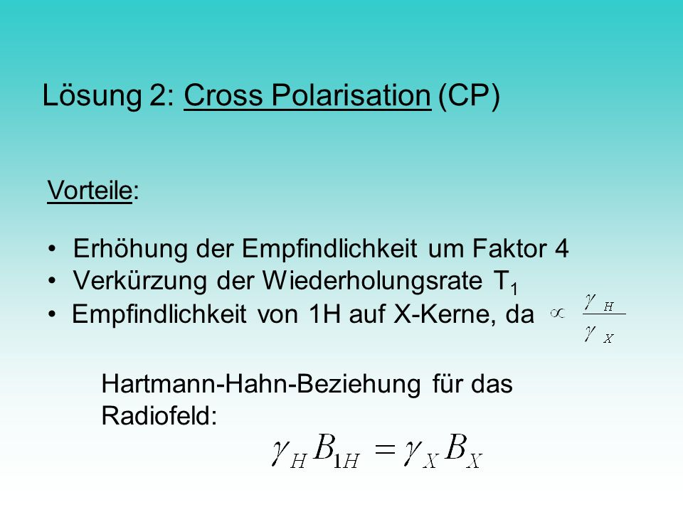 Lösung 2: Cross Polarisation (CP)