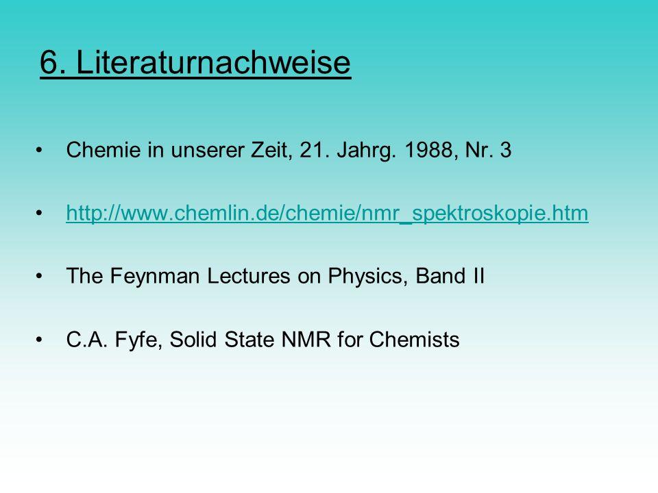 6. Literaturnachweise Chemie in unserer Zeit, 21. Jahrg. 1988, Nr. 3