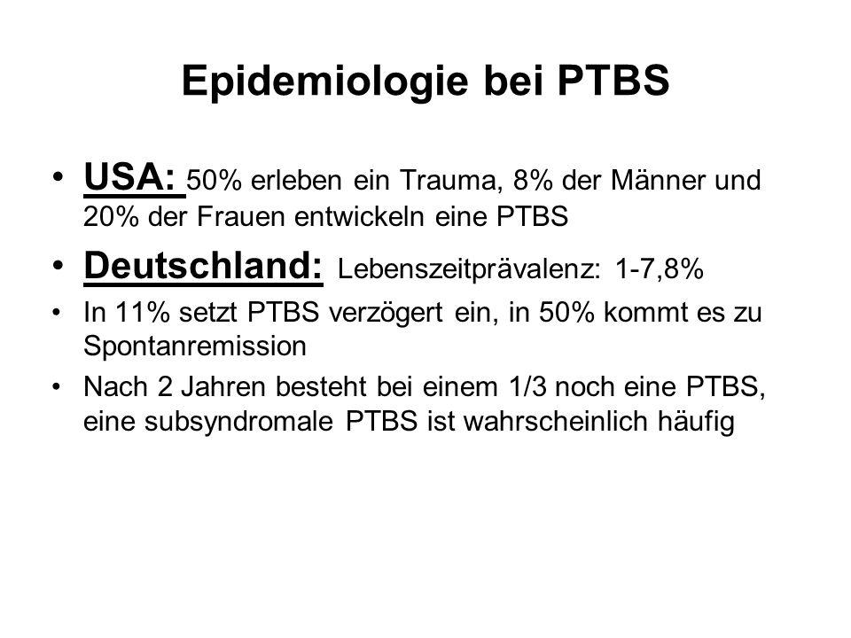 Epidemiologie bei PTBS