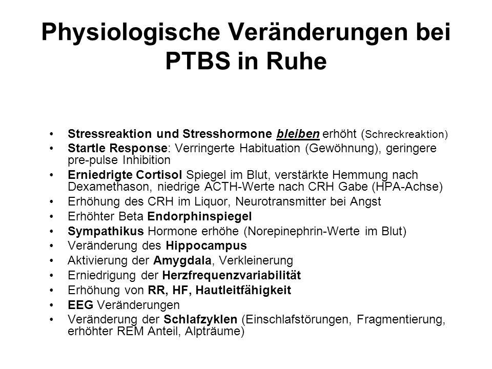 Physiologische Veränderungen bei PTBS in Ruhe