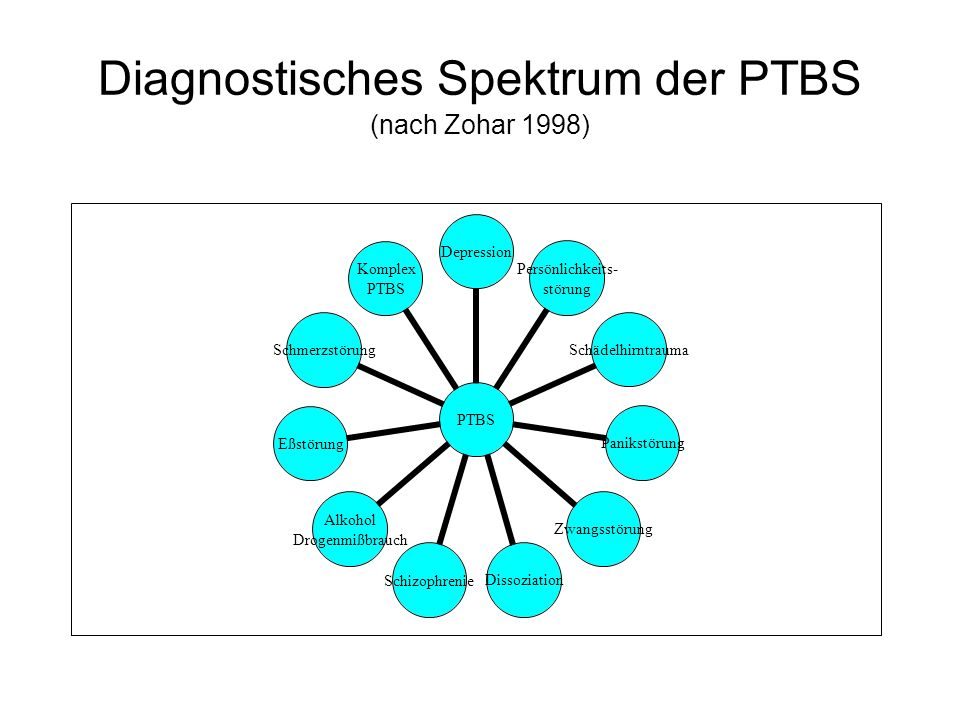 Diagnostisches Spektrum der PTBS (nach Zohar 1998)