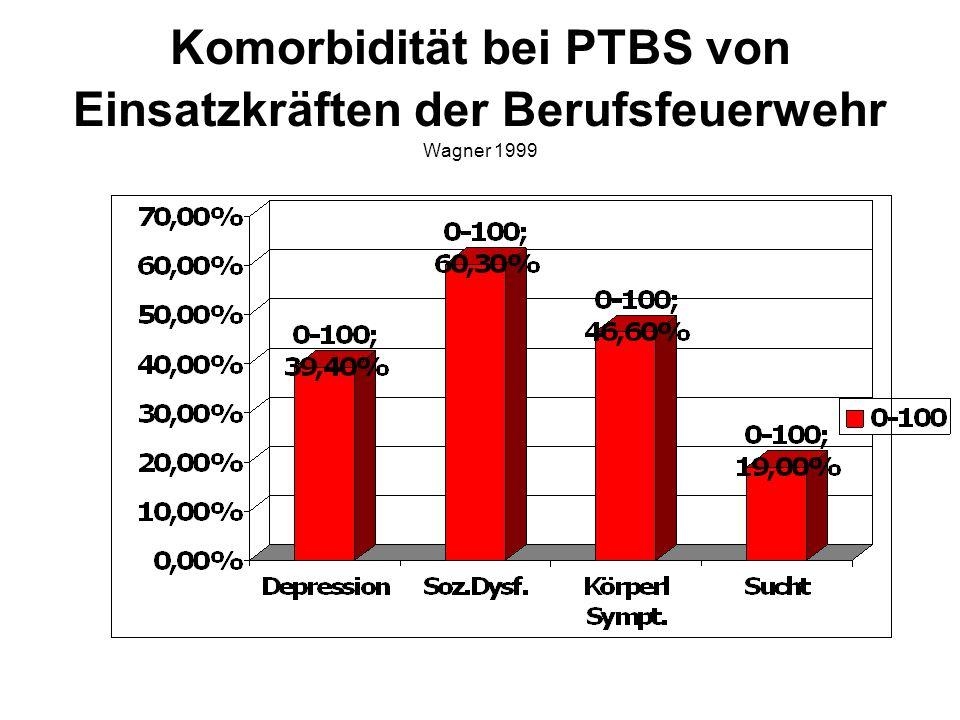 Komorbidität bei PTBS von Einsatzkräften der Berufsfeuerwehr Wagner 1999