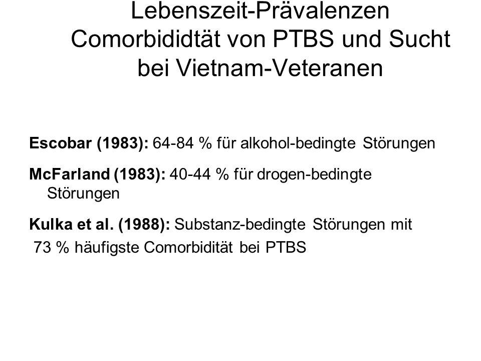 Lebenszeit-Prävalenzen Comorbididtät von PTBS und Sucht bei Vietnam-Veteranen