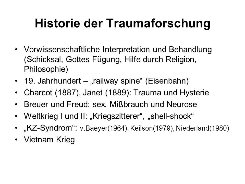 Historie der Traumaforschung