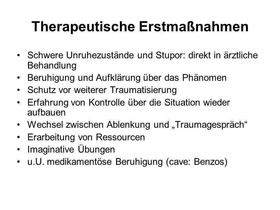 Therapeutische Erstmaßnahmen