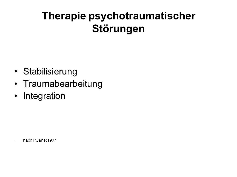 Therapie psychotraumatischer Störungen