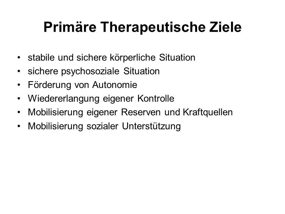 Primäre Therapeutische Ziele