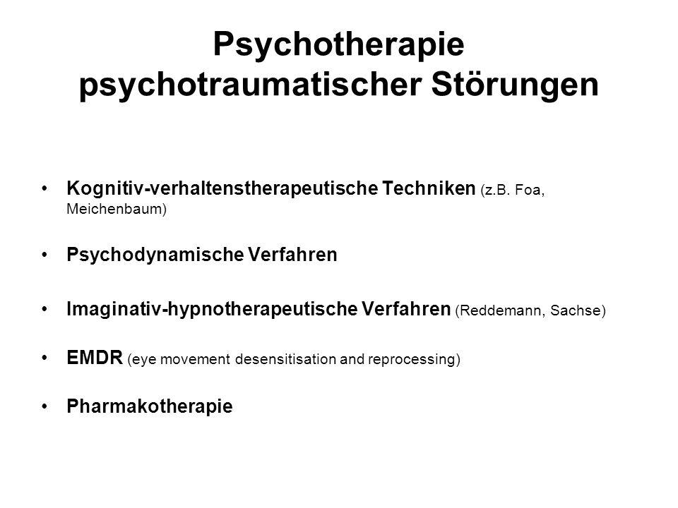 Psychotherapie psychotraumatischer Störungen