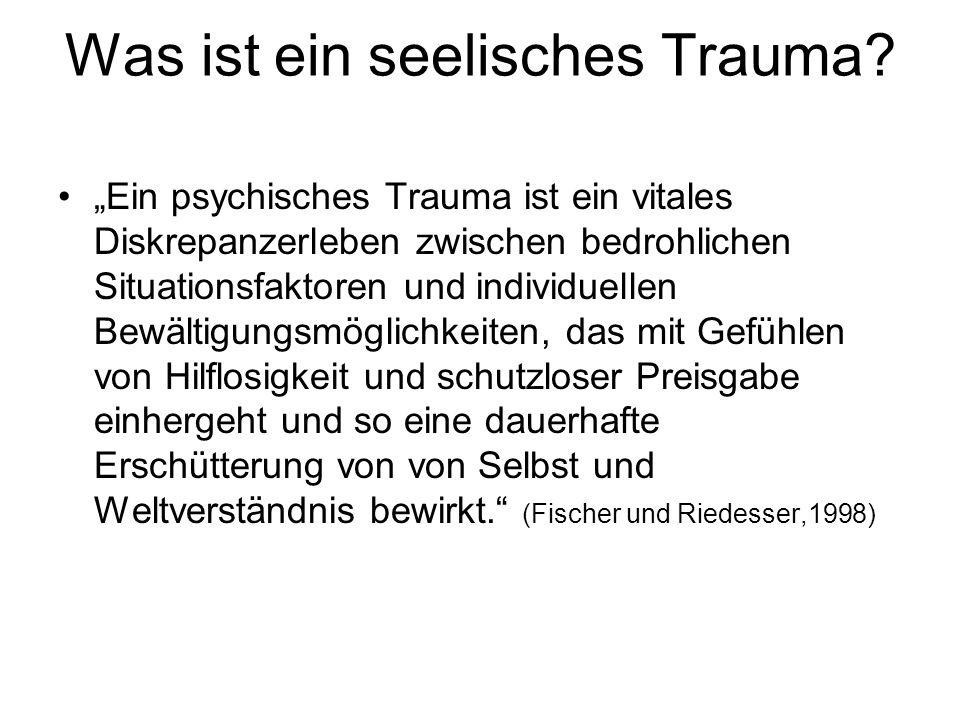 Was ist ein seelisches Trauma