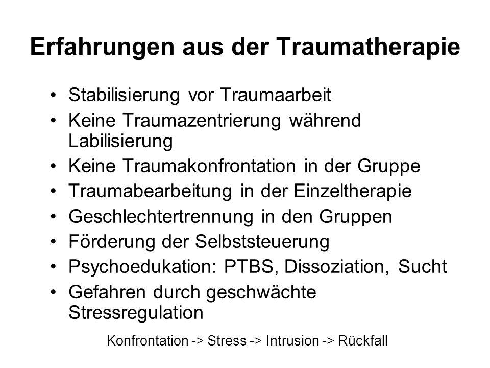 Erfahrungen aus der Traumatherapie