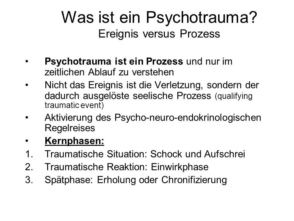 Was ist ein Psychotrauma Ereignis versus Prozess