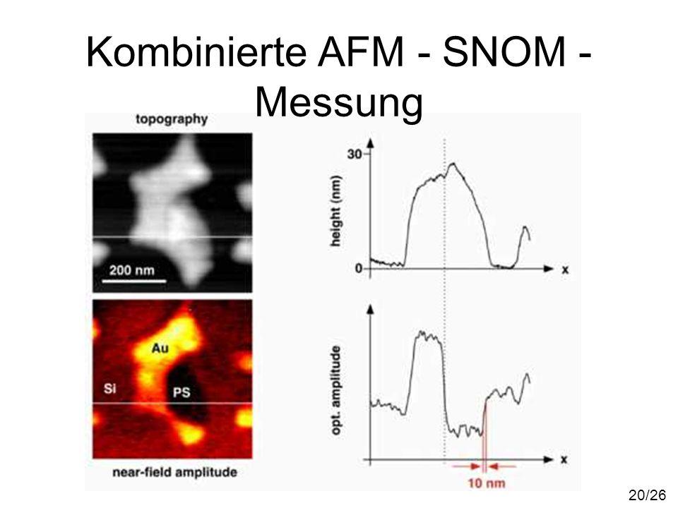 Kombinierte AFM - SNOM - Messung