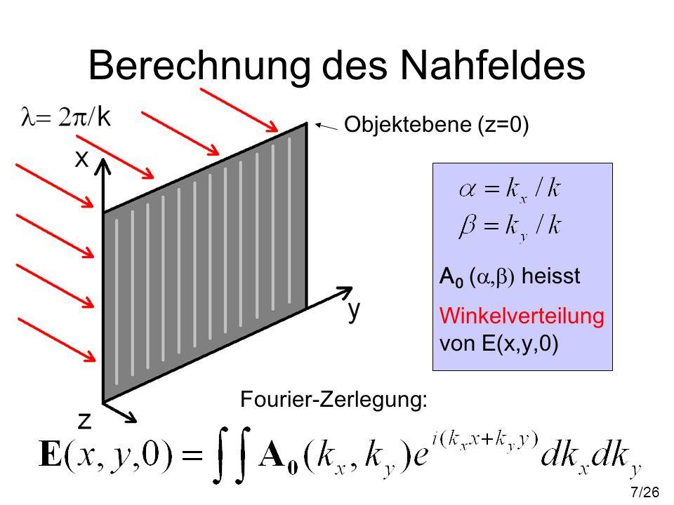 Berechnung des Nahfeldes