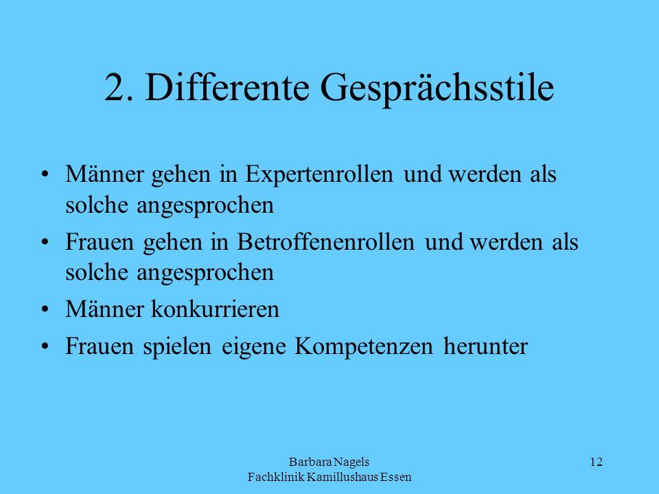 2. Differente Gesprächsstile