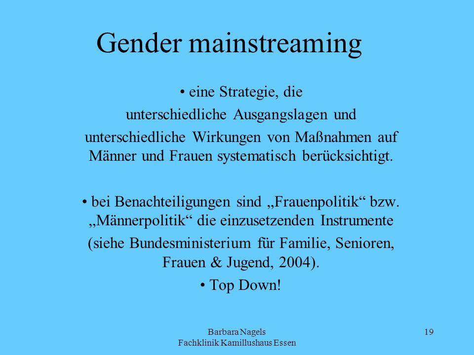 Gender mainstreaming eine Strategie, die