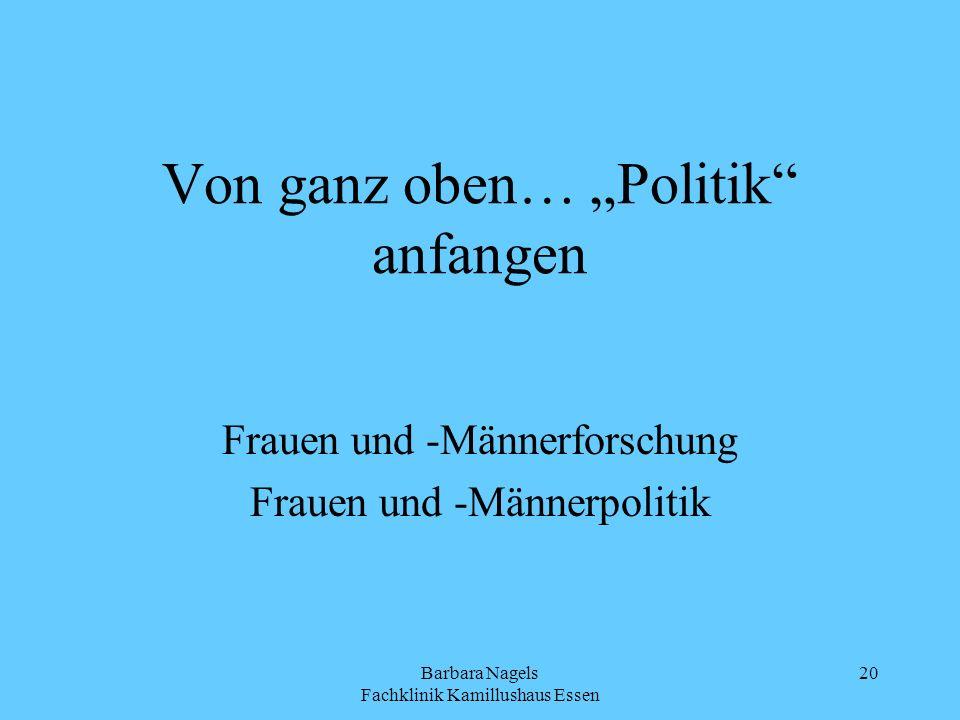 """Von ganz oben… """"Politik anfangen"""