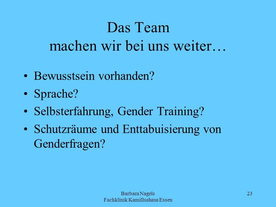 Das Team machen wir bei uns weiter…