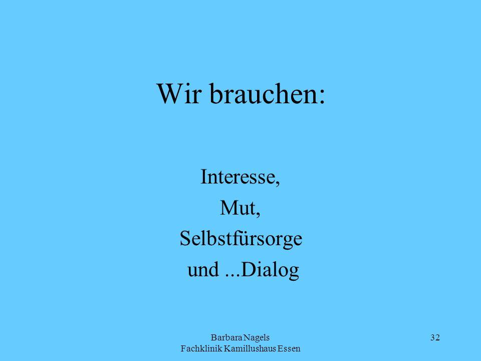 Interesse, Mut, Selbstfürsorge und ...Dialog