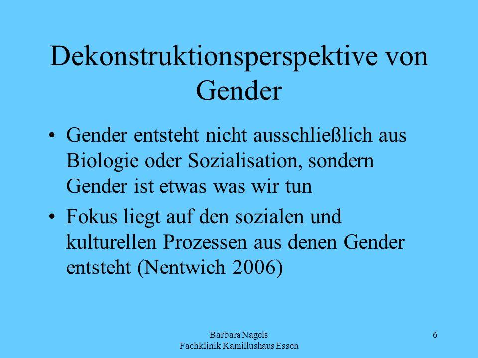 Dekonstruktionsperspektive von Gender