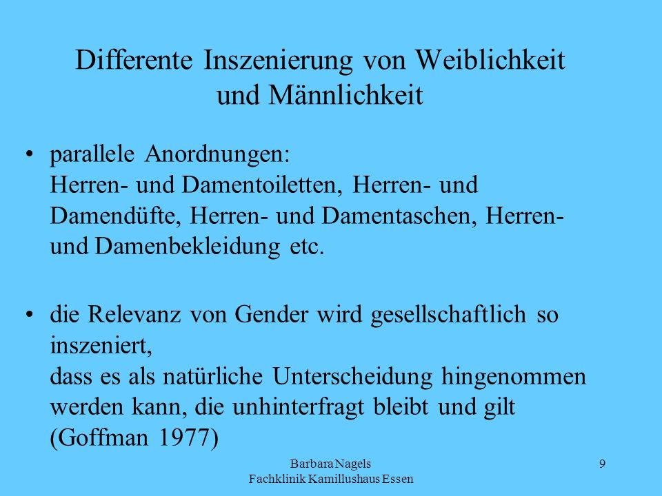 Differente Inszenierung von Weiblichkeit und Männlichkeit