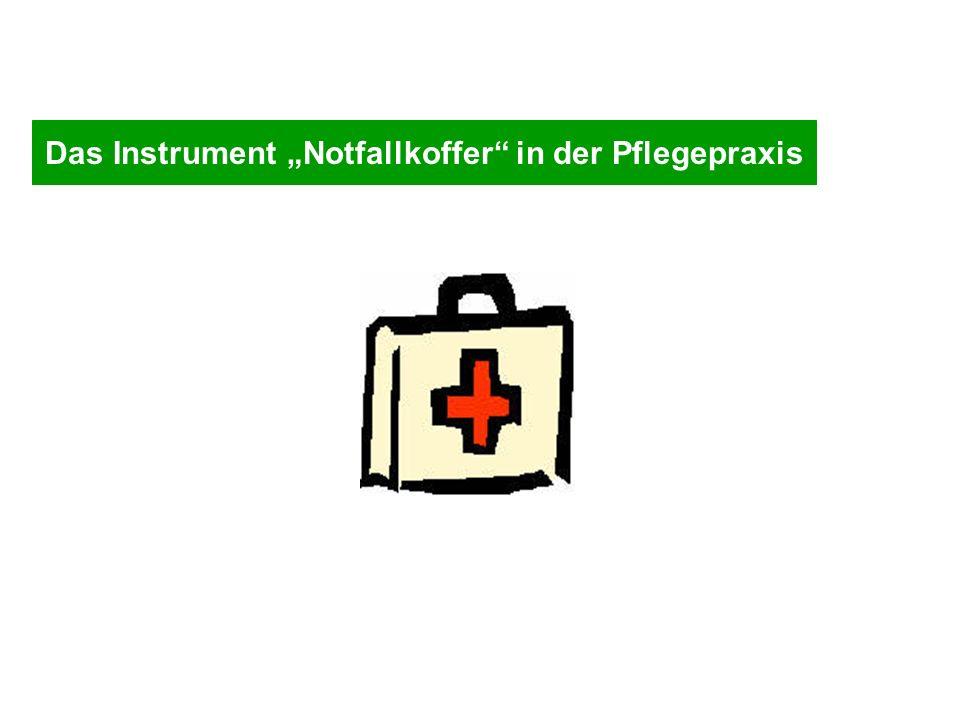"""Das Instrument """"Notfallkoffer in der Pflegepraxis"""