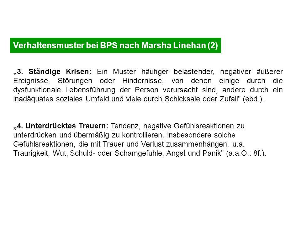 Verhaltensmuster bei BPS nach Marsha Linehan (2)