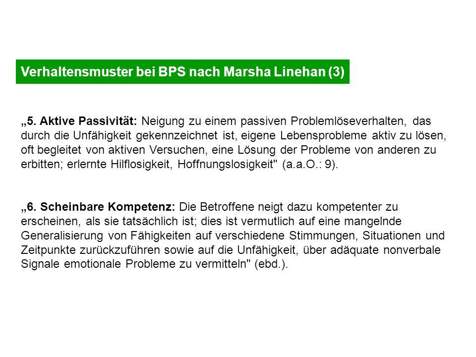 Verhaltensmuster bei BPS nach Marsha Linehan (3)