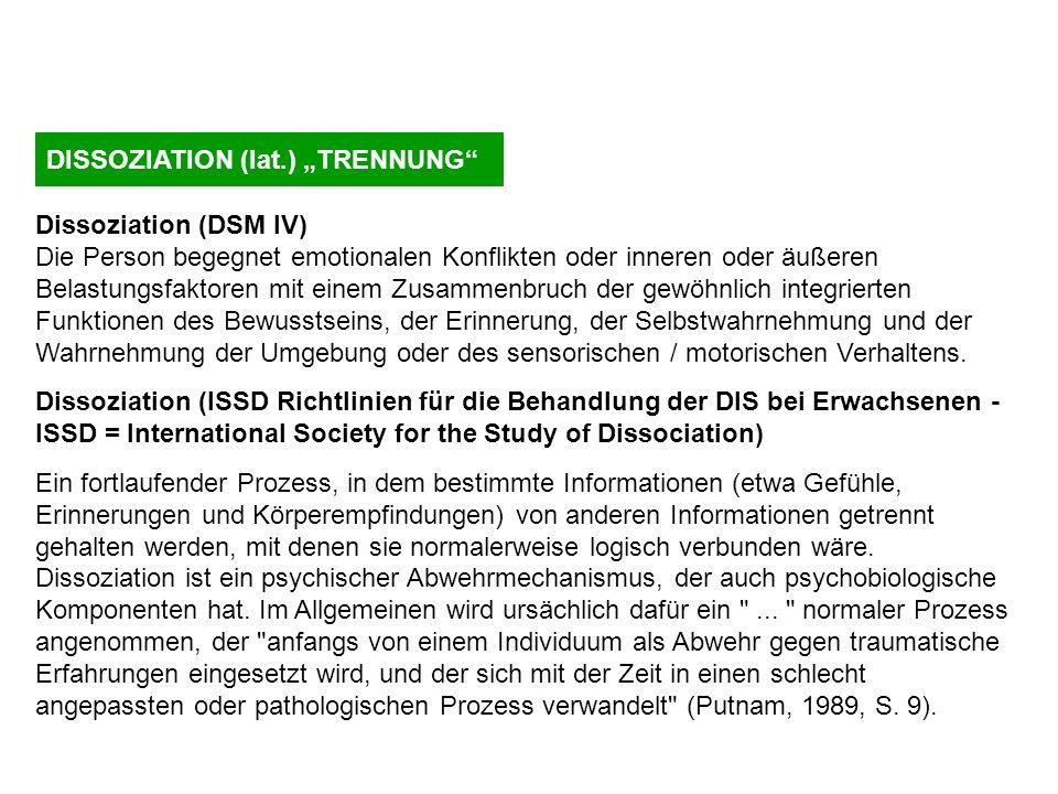 "DISSOZIATION (lat.) ""TRENNUNG"