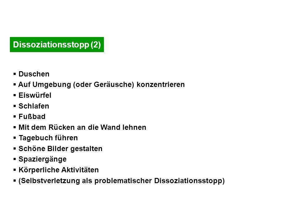 Dissoziationsstopp (2)