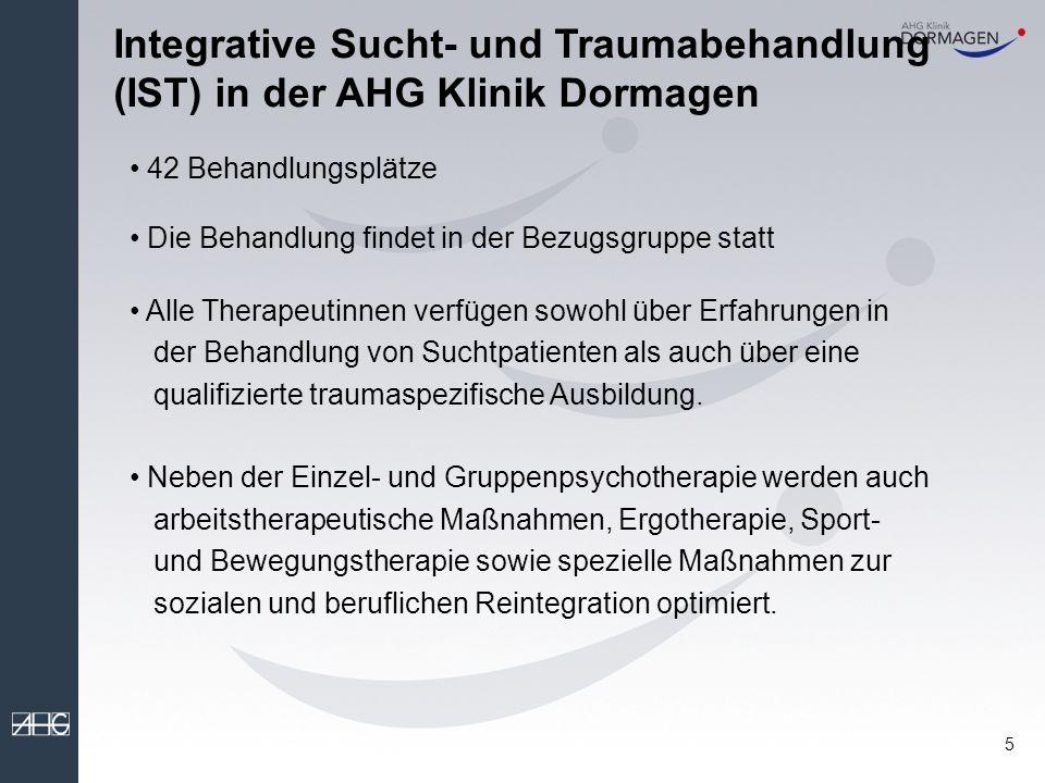 Integrative Sucht- und Traumabehandlung (IST) in der AHG Klinik Dormagen