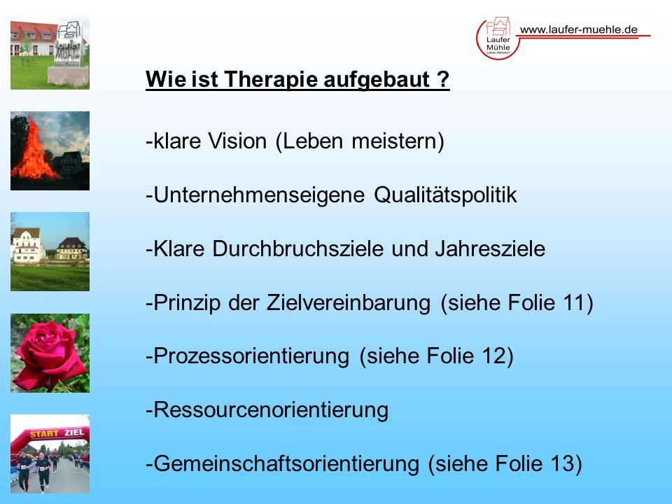 Wie ist Therapie aufgebaut