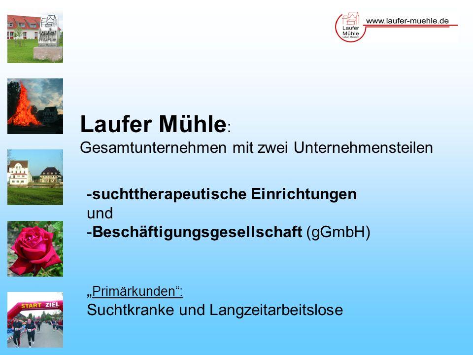 Laufer Mühle: Gesamtunternehmen mit zwei Unternehmensteilen