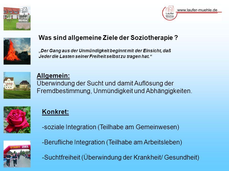 Was sind allgemeine Ziele der Soziotherapie