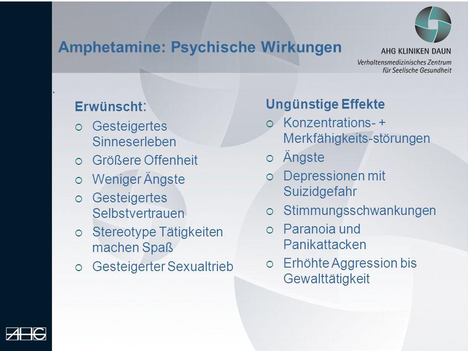 Amphetamine: Psychische Wirkungen
