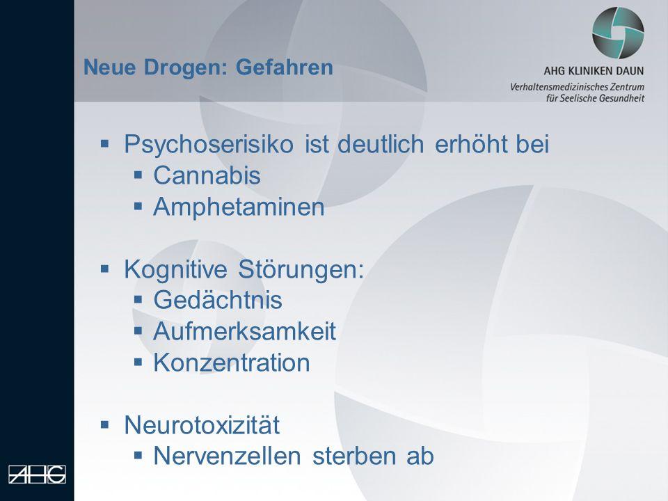 Psychoserisiko ist deutlich erhöht bei Cannabis Amphetaminen