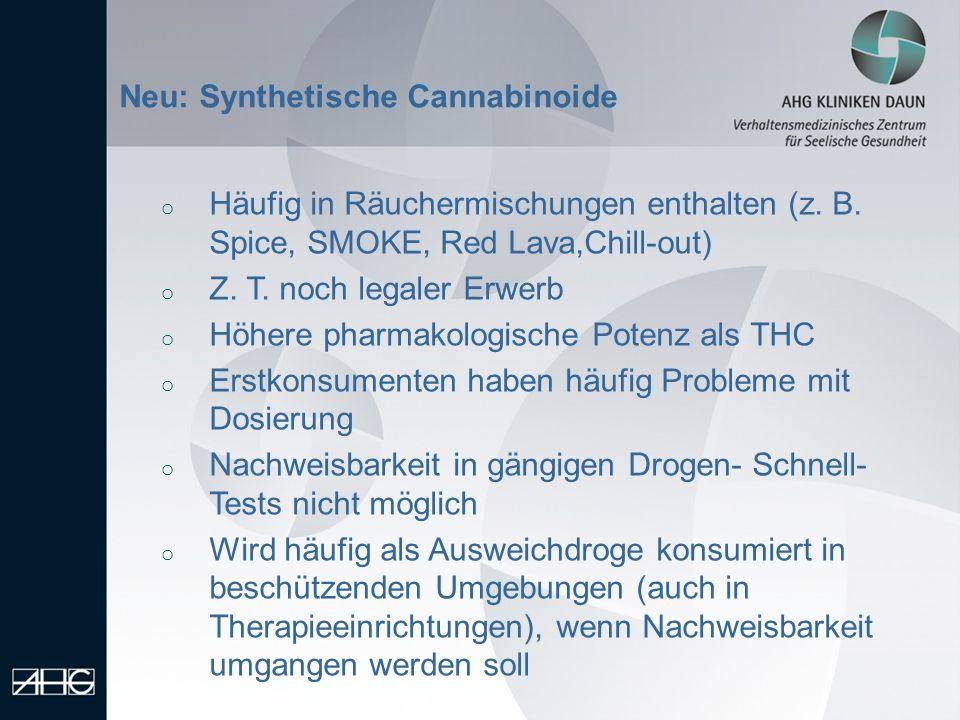 Neu: Synthetische Cannabinoide
