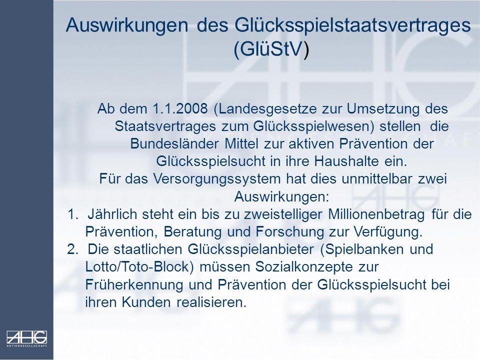 Auswirkungen des Glücksspielstaatsvertrages (GlüStV)