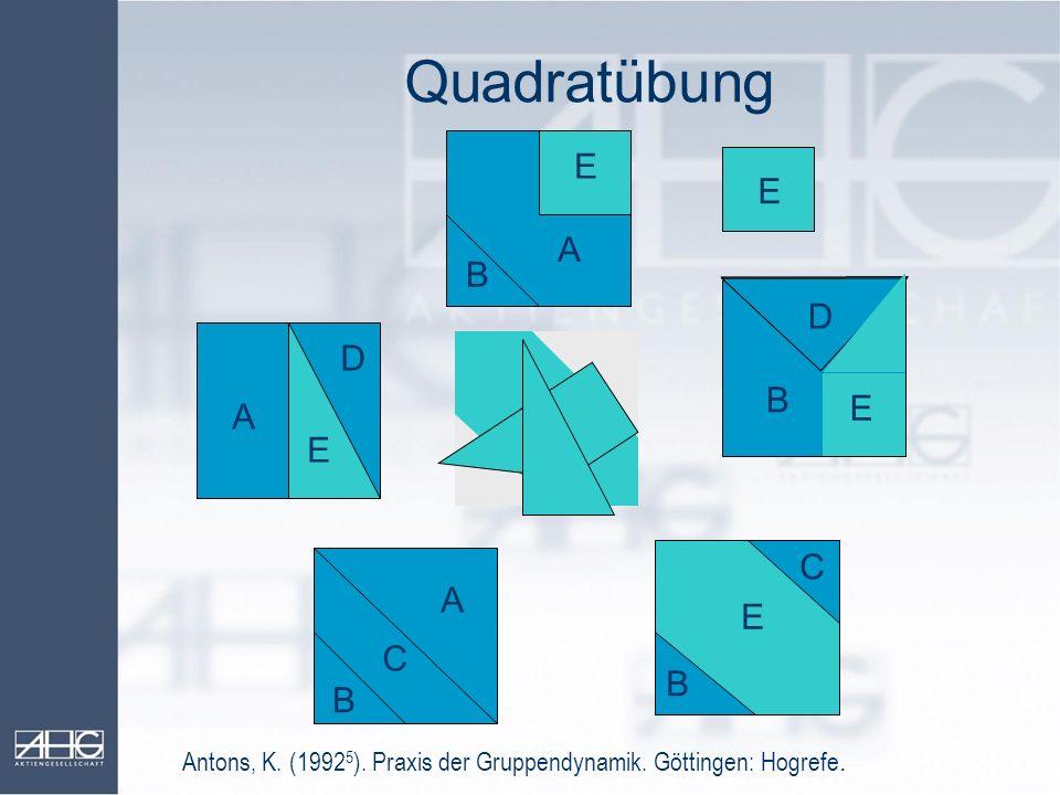 Quadratübung E E A B D D B E A E C A E C B B