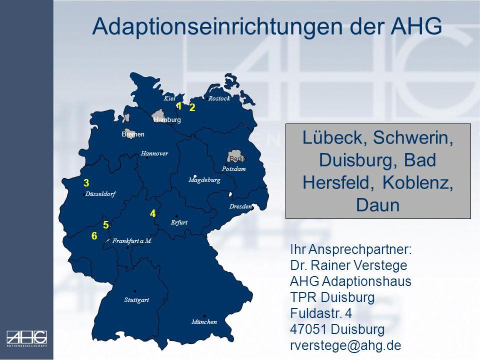 Adaptionseinrichtungen der AHG